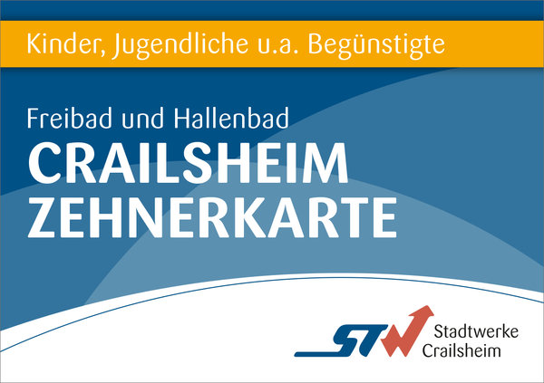 10er Karte Kinder/Begünstigte Bäder Crailsheim