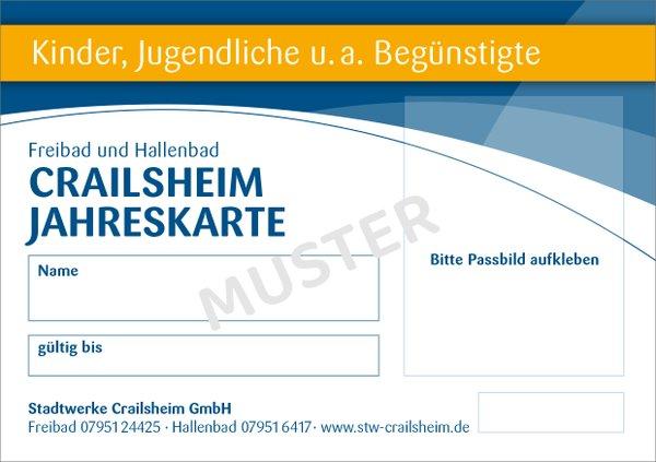 Jahreskarte Kinder Bäder Crailsheim
