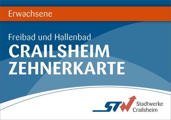 10er Karte Erwachsene Bäder Crailsheim