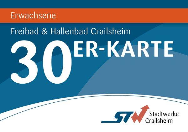 30er Karte Erwachsene Bäder Crailsheim