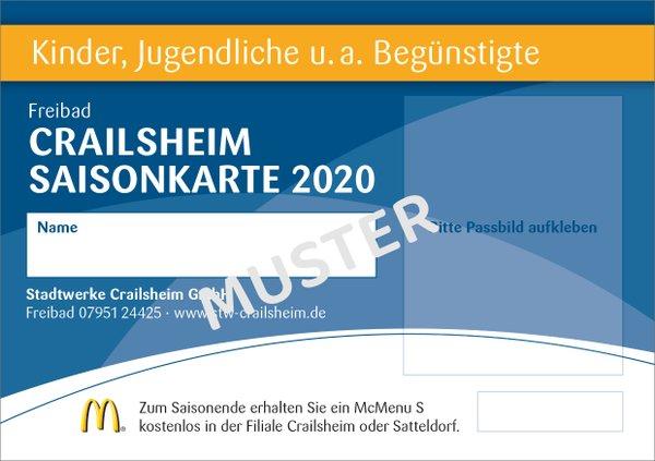 Saisonkarte Kinder Bäder Crailsheim